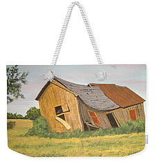 Weekender Tote Bag featuring the painting Award-winning Original Acrylic Painting - Now I Lay Me Down To Sleep by Norm Starks