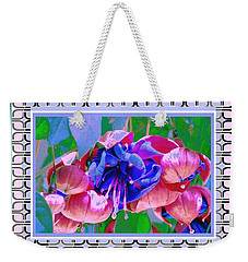 Weekender Tote Bag featuring the photograph Awesome Blooms by Shirley Moravec