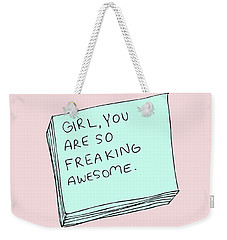 Awesome Weekender Tote Bag