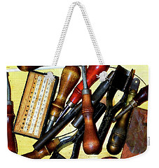 Awls And Punches Weekender Tote Bag by Timothy Bulone