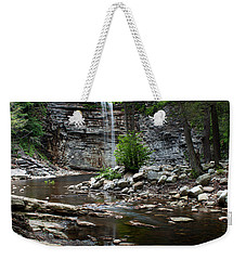 Weekender Tote Bag featuring the photograph Awosting Falls In Spring #1 by Jeff Severson