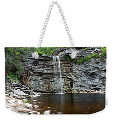 Weekender Tote Bag featuring the photograph Awosting Falls In Spring #2 by Jeff Severson