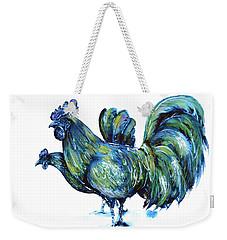 Ayam Cemani Pair Weekender Tote Bag by Zaira Dzhaubaeva