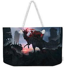 Ayanami Sunrider Weekender Tote Bag by Guillem H Pongiluppi