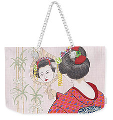 Ayano -- Portrait Of Japanese Geisha Girl Weekender Tote Bag