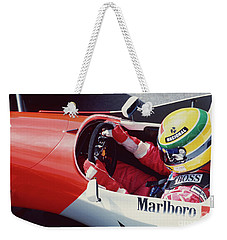 Ayrton Senna. 1993 Spanish Grand Prix Weekender Tote Bag