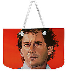 Ayrton Senna Portrait Painting Weekender Tote Bag by Paul Meijering