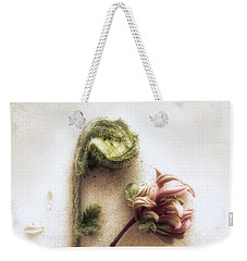 Weekender Tote Bag featuring the photograph Azalea And Fiddle-head Fern #2 by Louise Kumpf