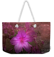 Weekender Tote Bag featuring the photograph Azalea by Judy Hall-Folde