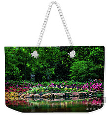 Azalea Pond Weekender Tote Bag by Tamyra Ayles