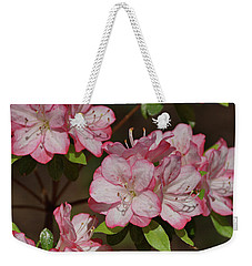 Weekender Tote Bag featuring the photograph Azalea by Sandy Keeton