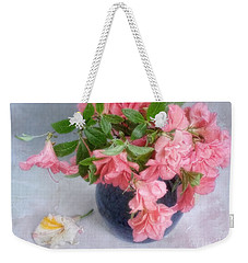 Weekender Tote Bag featuring the photograph Azalea Time by Louise Kumpf