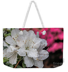 Weekender Tote Bag featuring the photograph Azaleas In Turtle Creek by Diana Mary Sharpton