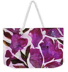 Weekender Tote Bag featuring the painting Azaleas by Julie Maas