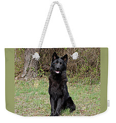 Weekender Tote Bag featuring the photograph Aziza Sitting by Sandy Keeton