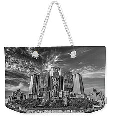 Weekender Tote Bag featuring the photograph Azul Cemetery by Bernardo Galmarini