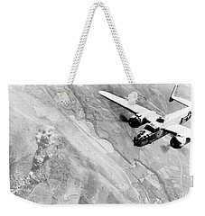 B-25 Bomber Over Germany Weekender Tote Bag by War Is Hell Store