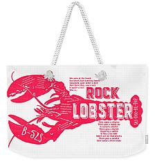 B-52s Rock Lobster Lyric Poster Weekender Tote Bag