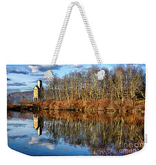 B And  O Pond With Sand House Weekender Tote Bag