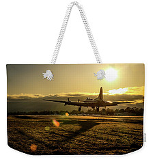 B17 Landing At Livermore Weekender Tote Bag