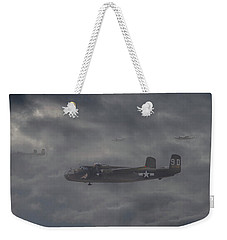 Weekender Tote Bag featuring the digital art B25 - 12th Usaaf by Pat Speirs
