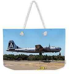 B29 Superfortress Takeoff At Modesto Weekender Tote Bag