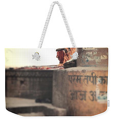 Baba At The Ghats Weekender Tote Bag