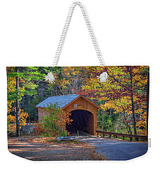 Weekender Tote Bag featuring the photograph Babb's Bridge In Autumn by Rick Berk