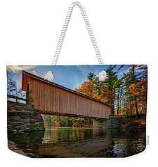 Weekender Tote Bag featuring the photograph Babb's Bridge by Rick Berk