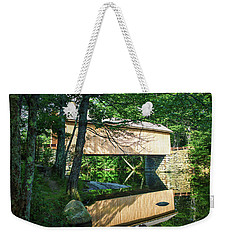 Weekender Tote Bag featuring the photograph Babb's Covered Bridge by Guy Whiteley