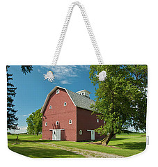 Weekender Tote Bag featuring the photograph Babcock Barn 2259 by Guy Whiteley