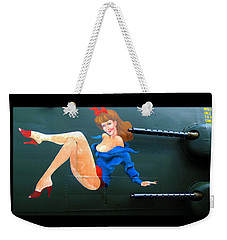 Babe On Wwii Bomber The Show Me Weekender Tote Bag by Kathy Barney