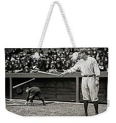 Babe Ruth At Bat Weekender Tote Bag