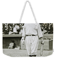 Babe Ruth Going To Bat Weekender Tote Bag