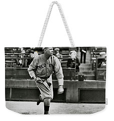 Babe Ruth - Pitcher Boston Red Sox  1915 Weekender Tote Bag by Daniel Hagerman