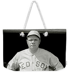 Babe Ruth Red Sox Weekender Tote Bag