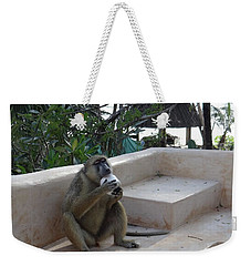 Baboon With A Sweet Tooth Weekender Tote Bag