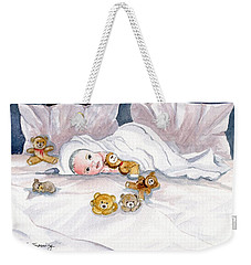 Baby And Friends Weekender Tote Bag by Melly Terpening