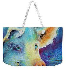 Baby Blues Piggy Weekender Tote Bag