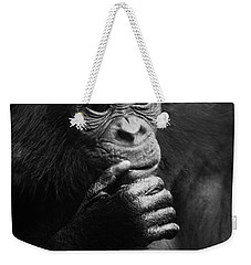 Weekender Tote Bag featuring the photograph Baby Bonobo by Helga Koehrer-Wagner