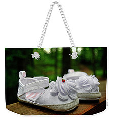 Weekender Tote Bag featuring the photograph Baby Bootie Bug by Chrystal Mimbs