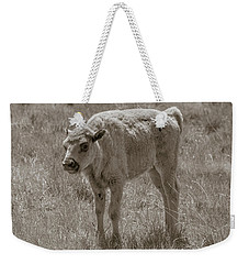 Weekender Tote Bag featuring the photograph Baby Buffalo by Rebecca Margraf