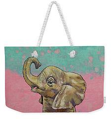 Baby Elephant Weekender Tote Bag by Michael Creese