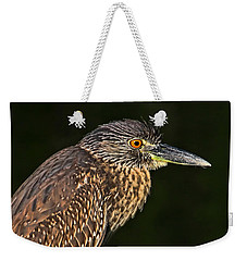 Weekender Tote Bag featuring the photograph Baby Face - Yellow-crowned Night Heron  by HH Photography of Florida