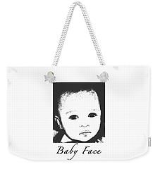 Baby Face Weekender Tote Bag