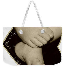 Baby Feet Weekender Tote Bag by Ellen O'Reilly