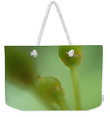 Weekender Tote Bag featuring the photograph Baby Grapes by Christina Verdgeline