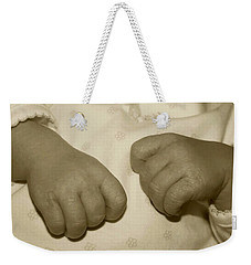 Baby Hands Weekender Tote Bag by Ellen O'Reilly
