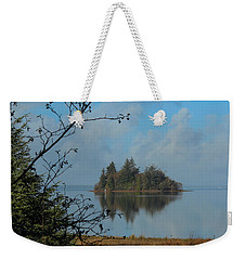 Baby Island In Willapa Bay Weekender Tote Bag by E Faithe Lester