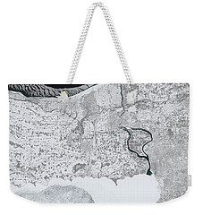 Weekender Tote Bag featuring the painting Baby, It's Cold Outside by Artistic Panda